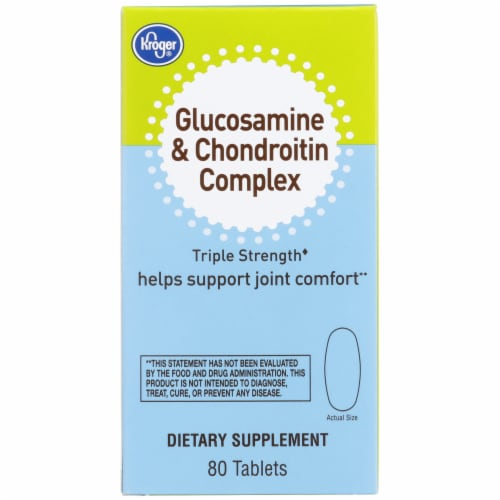 Kroger® Triple Strength Glucosamine & Chondroitin Complex Tablets Perspective: front
