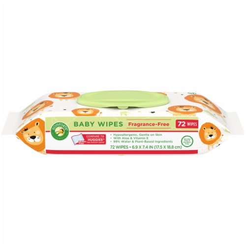 Comforts® Fragrance-Free Baby Wipes Flip-Top Pack Perspective: front