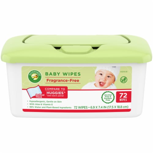 Comforts® Fragrance-Free Baby Wipes Tub Perspective: front
