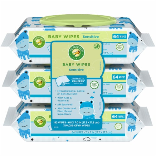 Comforts™ Sensitive Baby Wipes Perspective: front