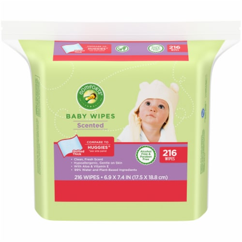 Comforts™ Scented Baby Wipes Perspective: front