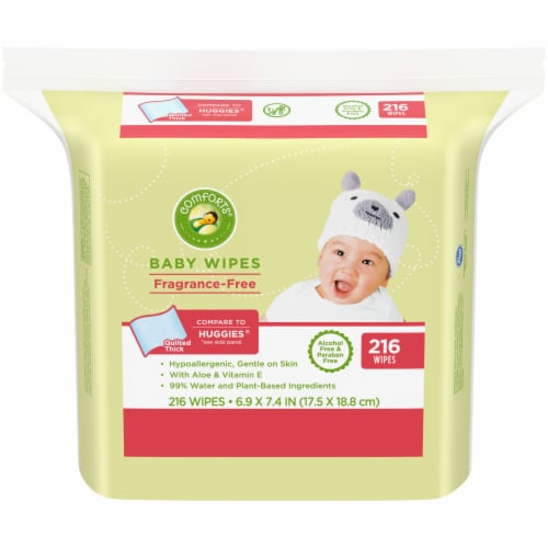 Comforts™ Fragrance-Free Baby Wipes 216 Count Perspective: front