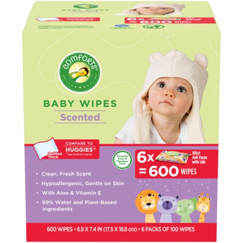 Comforts™ Fresh Scented Baby Wipes Perspective: front
