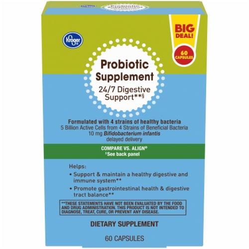 Kroger® Probiotic Supplement Capsules Perspective: front