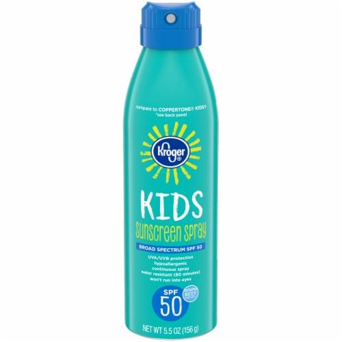 Kroger® Broad Spectrum Kids Sunscreen Spray SPF 50 Perspective: front