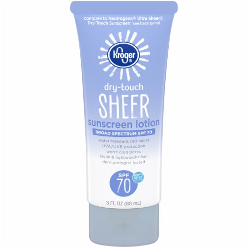 Kroger® Broad Spectrum Dry Touch Sheer Sunscreen Lotion SPF 70 Perspective: front