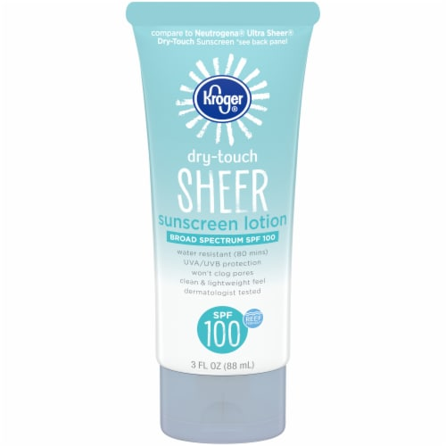 Kroger® Broad Spectrum Dry-Touch Sheer Sunscreen Lotion SPF 100 Perspective: front