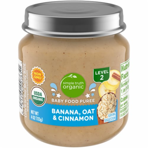 Simple Truth Organic® Banana Oat & Cinnamon Stage 2 Baby Food Perspective: front
