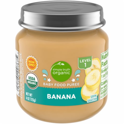 Simple Truth Organic® Banana Baby Food Puree Jar Perspective: front