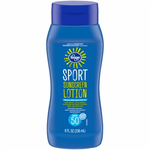 Kroger® Sport Broad Spectrum Sunscreen Lotion SPF 50 Perspective: front