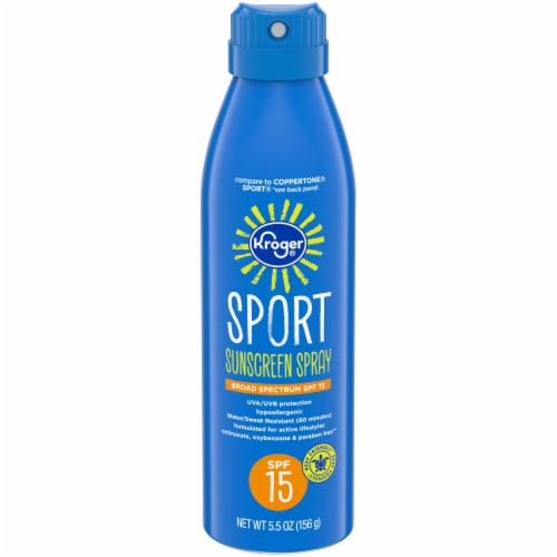 Kroger® Sport Sunscreen Spray SPF15 Perspective: front