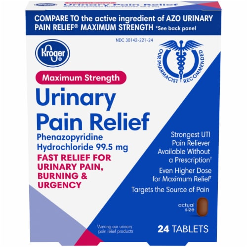 Kroger® Maximum Strength Urinary Pain Relief Tablets Perspective: front