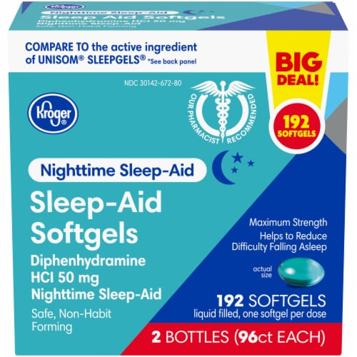 Kroger® Nighttime Sleep-Aid Softgels Perspective: front