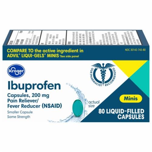Kroger® Ibuprofen Mini Softgels 200mg Perspective: front