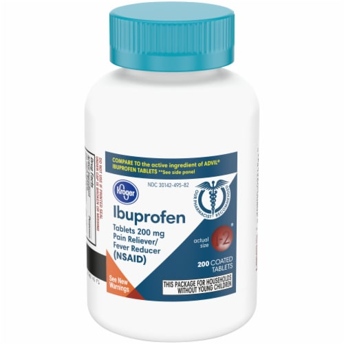 Kroger® Ibuprofen Coated Tablets 200mg Perspective: front