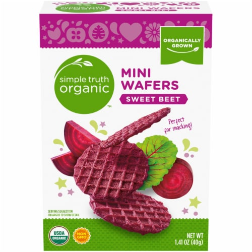 Simple Truth Organic™ Sweet Beet Mini Wafers Perspective: front