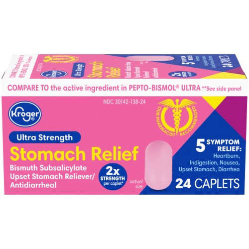 Kroger® Ultra Strength Stomach Relief Caplets Perspective: front