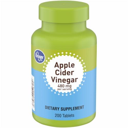 Kroger® Apple Cider Vinegar Tablets Perspective: front