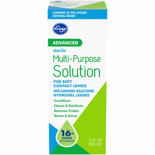Kroger® Advanced Multi-Purpose Contact Solution Perspective: front