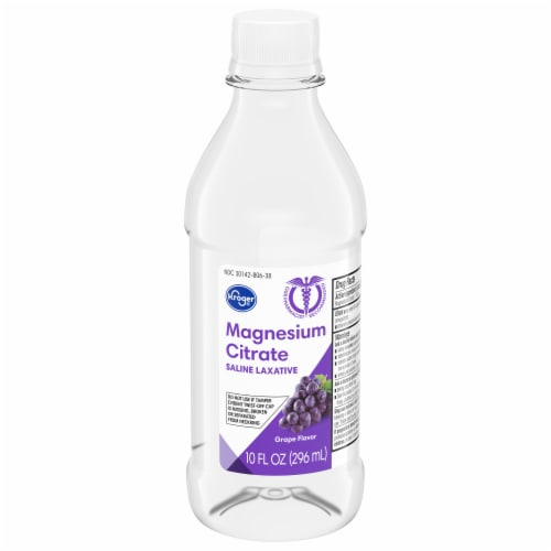 Kroger® Grape Flavor Magnesium Citrate Saline Laxative Perspective: front