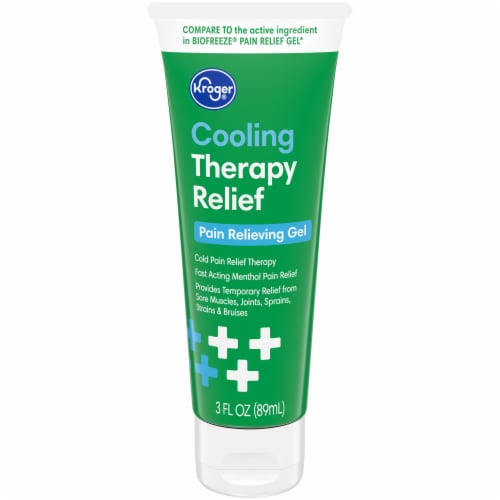 Kroger® Cooling Therapy Relief Pain Relieving Gel Perspective: front