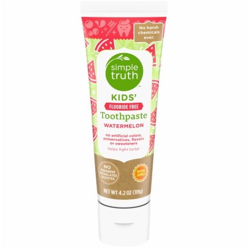Simple Truth™ Kids' Fluoride Free Watermelon Toothpaste Perspective: front