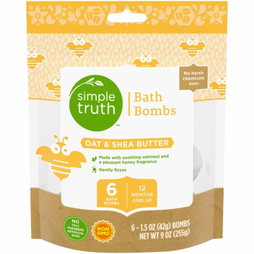 Simple Truth™ Oat & Shea Butter Baby Bath Bombs Perspective: front