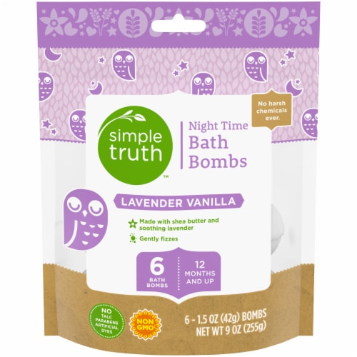 Simple Truth™ Lavender Vanilla Bath Bombs 6 Count Perspective: front