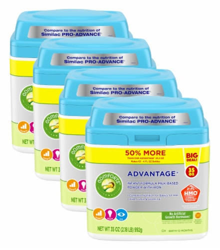 Comforts™ Advantage Milk-Based Infant Formula Powder With Iron Perspective: front