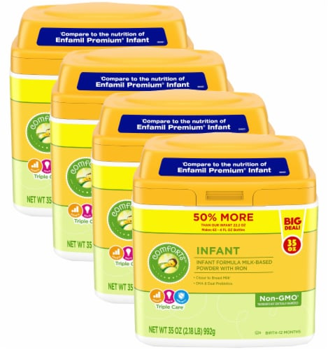Comforts™ Infant Milk-Based Infant Formula Powder With Iron Perspective: front