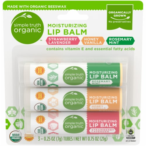 Smple Truth Organic™ Moisturizing Lip Balm Variety Pack Perspective: front