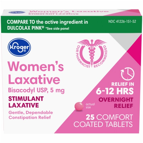 Kroger® Women's Stimulant Laxative Comfort Coated Tablets Perspective: front