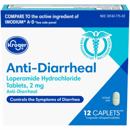 Kroger® Anti-Diarrheal Caplets 2mg Perspective: front