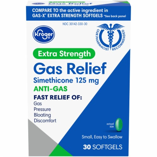 Kroger® Extra Strength Gas Relief Anti-Gas Softgels Perspective: front