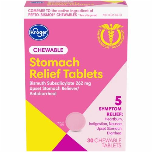 Kroger® Stomach Relief Chewable Tablets Perspective: front