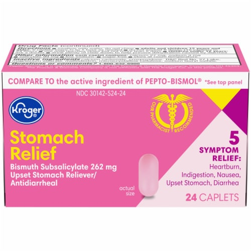Kroger® Stomach Relief Caplets Perspective: front