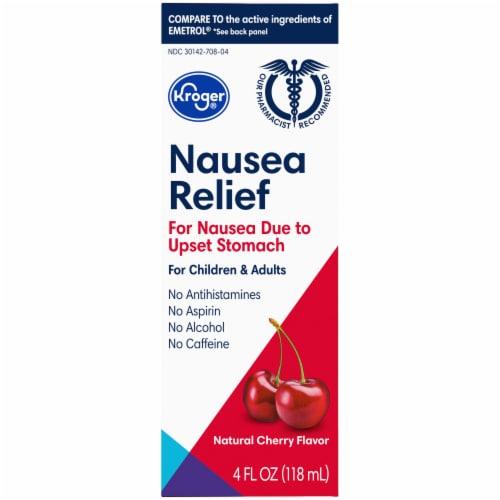 Kroger® Cherry Flavor Nausea Relief Liquid Perspective: front