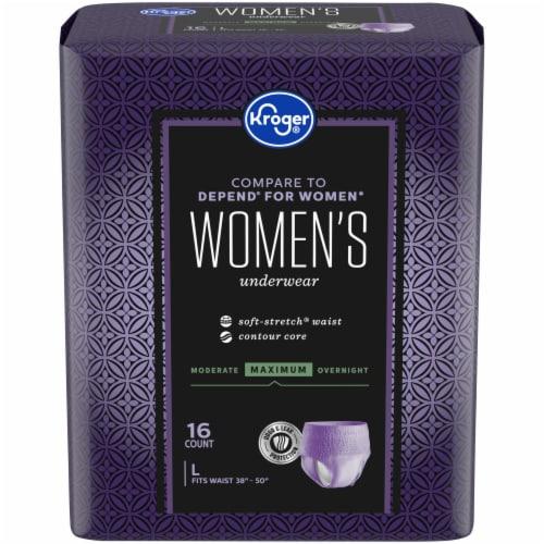 Kroger® Women's Large Maximum Absorbency Underwear Perspective: front