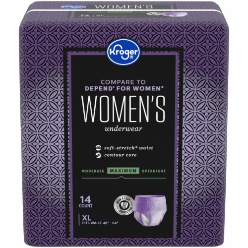 Kroger® Women's XL Maximum Absorbency Underwear Perspective: front