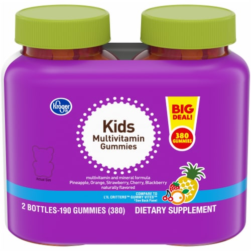 Kroger® Kid's Multivitamin Gummies (2 Pack) Perspective: front