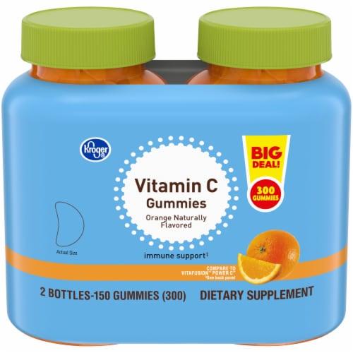 Kroger® Adult Vitamin C Orange Flavored Gummy Twin Pack Perspective: front