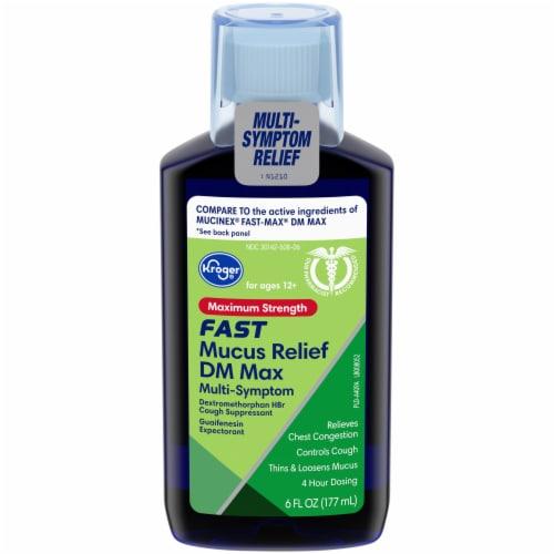 Kroger® Maximum Strength Fast Mucus Relief DM Max Cough Suppressant Liquid Perspective: front