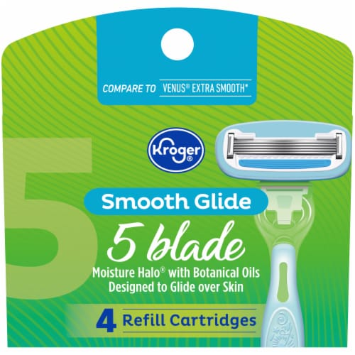 Kroger® 5 Blade Smooth Glide Shave System Refill Perspective: front
