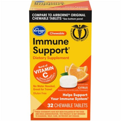 Kroger® Immune Support Chewables Citrus Flavor Dietary Supplement Perspective: front