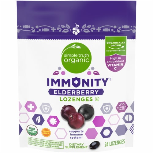 Simple Truth Organic™ Immunity Elderberry Lozenges Perspective: front