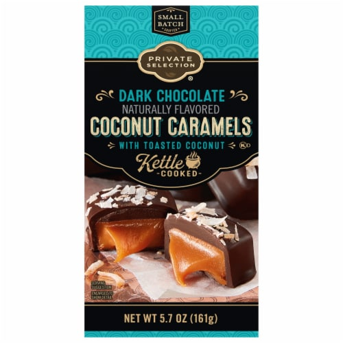 Private Selection® Dark Chocolate Coconut Caramels Perspective: front
