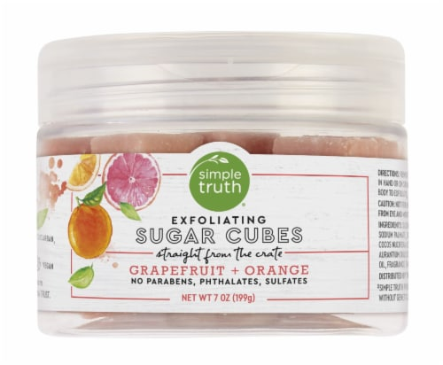 Simple Truth® Beauty Crate Grapefruit & Orange Exfoliating Sugar Cubes Perspective: front
