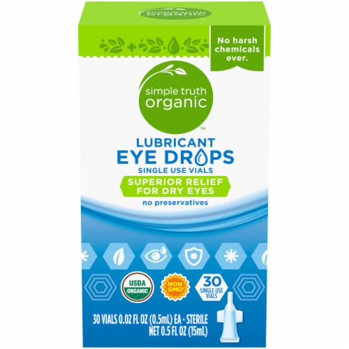 Simple Truth Organic™ Lubricant Eye Drops Single Use Vials Perspective: front
