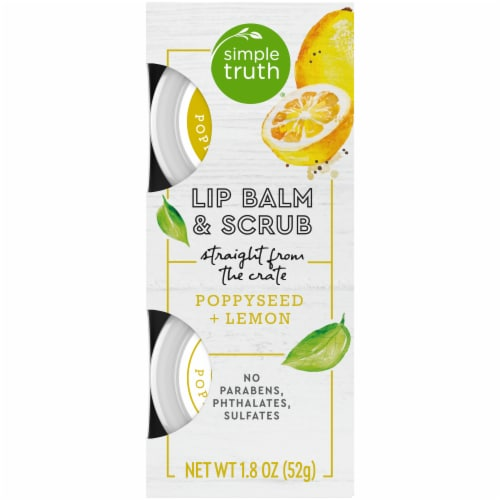 Simple Truth® Beauty Crate Poppyseed + Lemon Lip Balm & Scrub Perspective: front