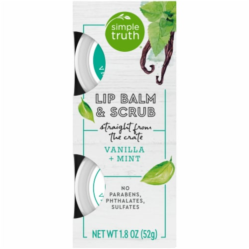 Simple Truth® Beauty Crate Vanilla + Mint Lip Balm and Scrub Perspective: front